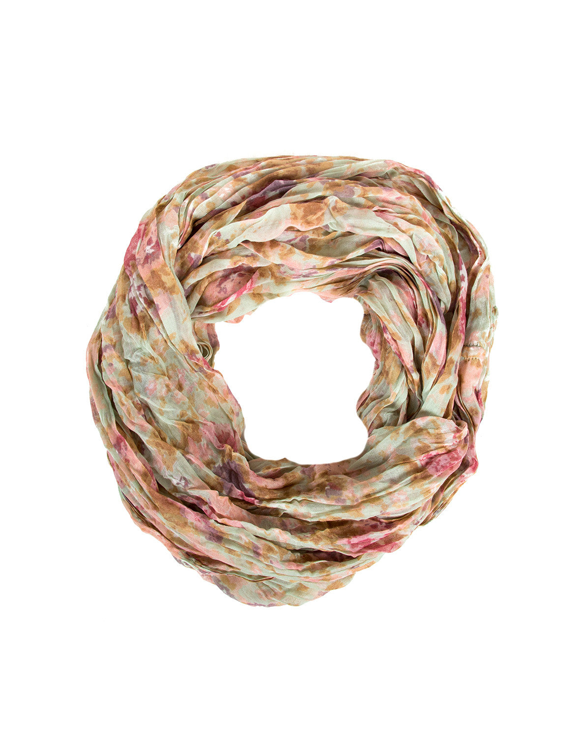 Watercolor Floral Infinity Scarf - Mint