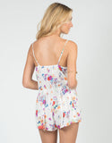 Back View of Watercolor Floral Romper