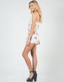 Side View of Watercolor Floral Romper