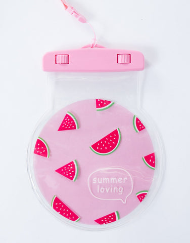 Pink Watermelon Water Resistant Case - Front View