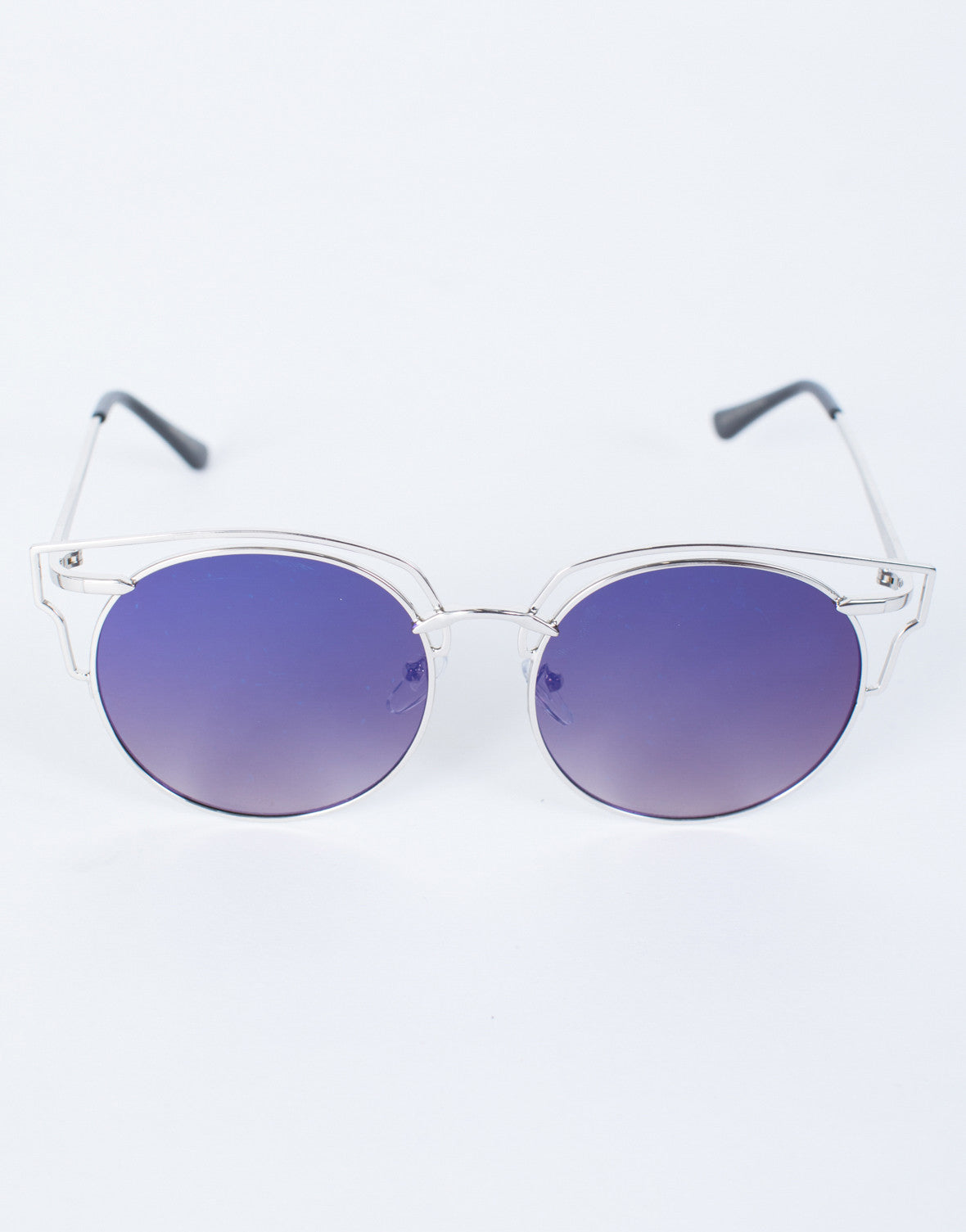 Purple/Silver Weekend Vibes Sunnies - Top View