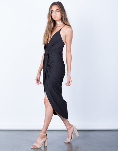 Side View of When Night Falls Midi Dress