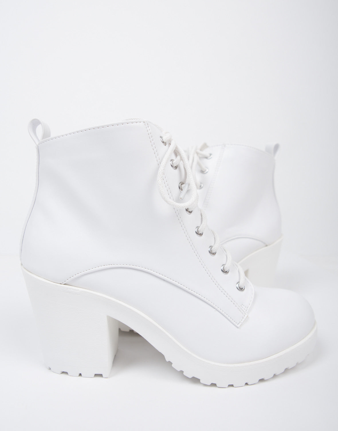 White Out Lace-Up Boots