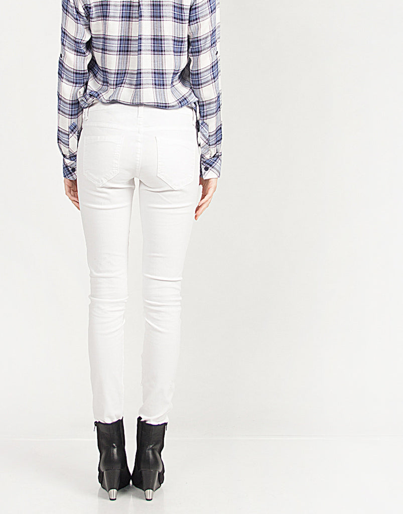 White Skinny Denim Jeans - 2020AVE