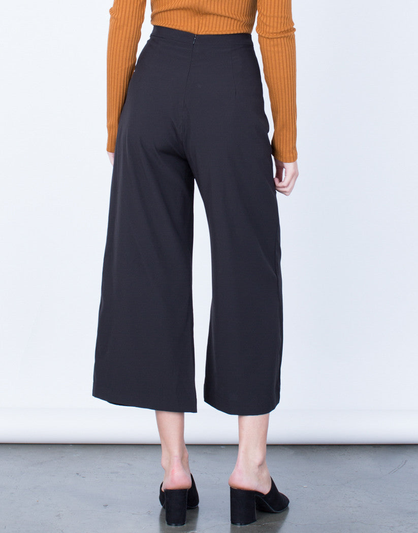 Back View of Wide Leg Culottes