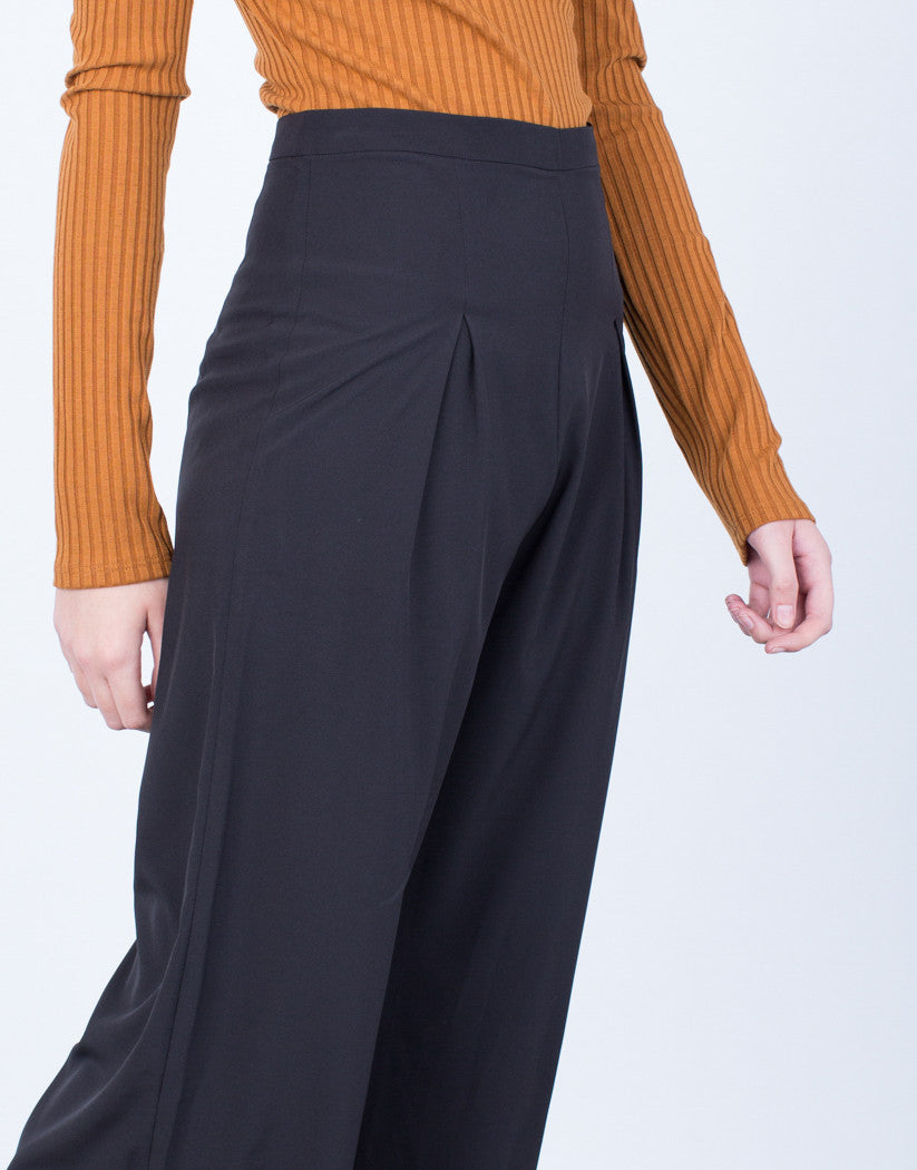 Detail of Wide Leg Culottes