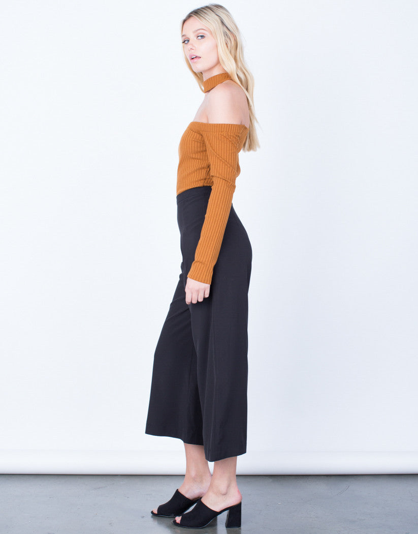 Side View of Wide Leg Culottes