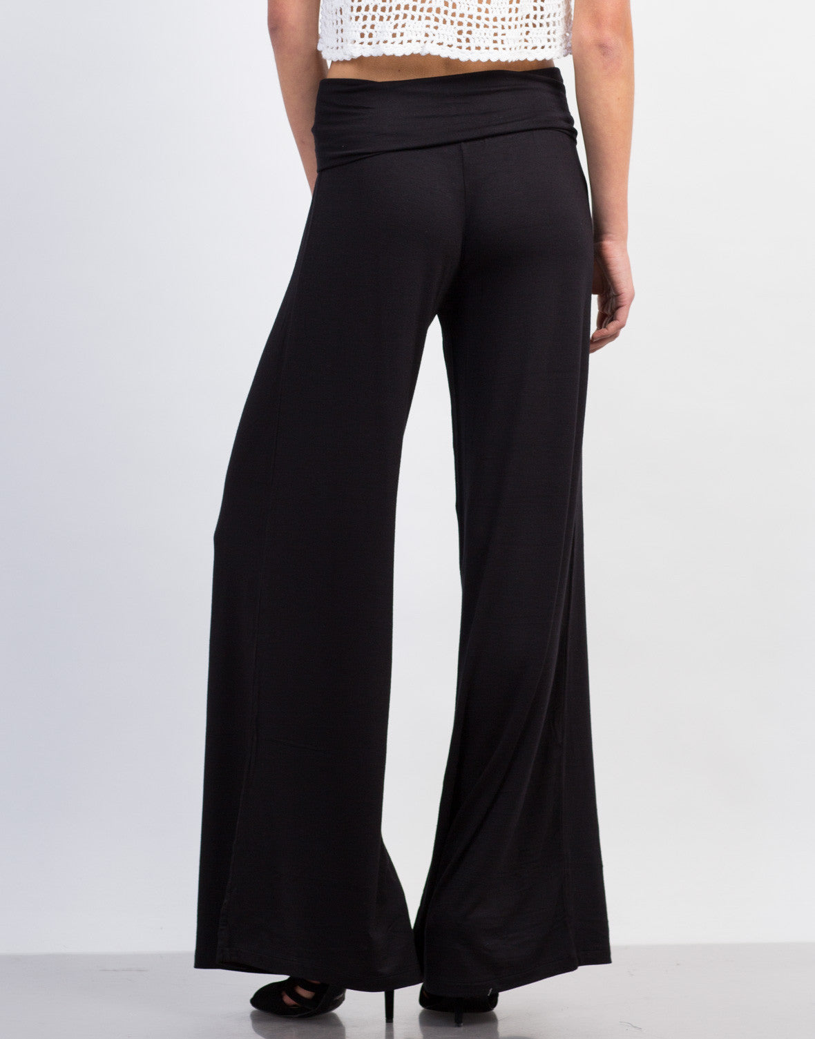 Back View of Wide Leg Palazzo Pants