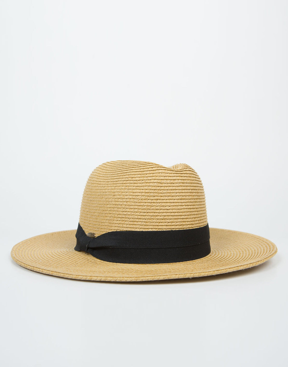 Side View of Wide Brim Straw Hat