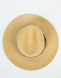 Top View of Wide Brim Straw Hat