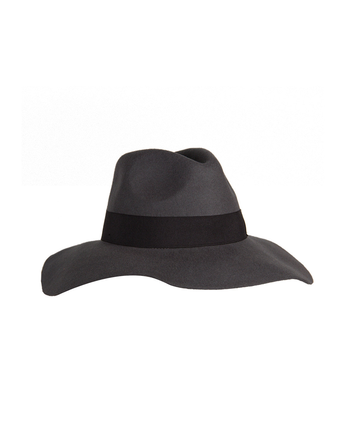 Wide Brim Wool Hat - Gray