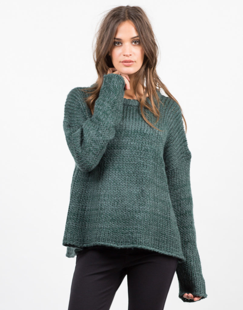 Wide Chunky Knit Sweater - 2020AVE