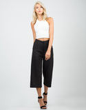 Front View of Wide Culotte Pants