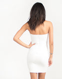 Wired Strapless Bodycon Dress - White