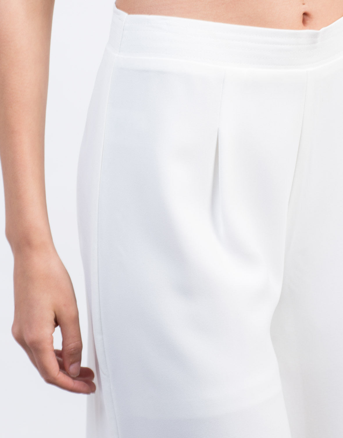 Detail of Woven Wide Leg Culottes