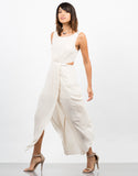 Side View of Woven Cut Out Maxi Dress