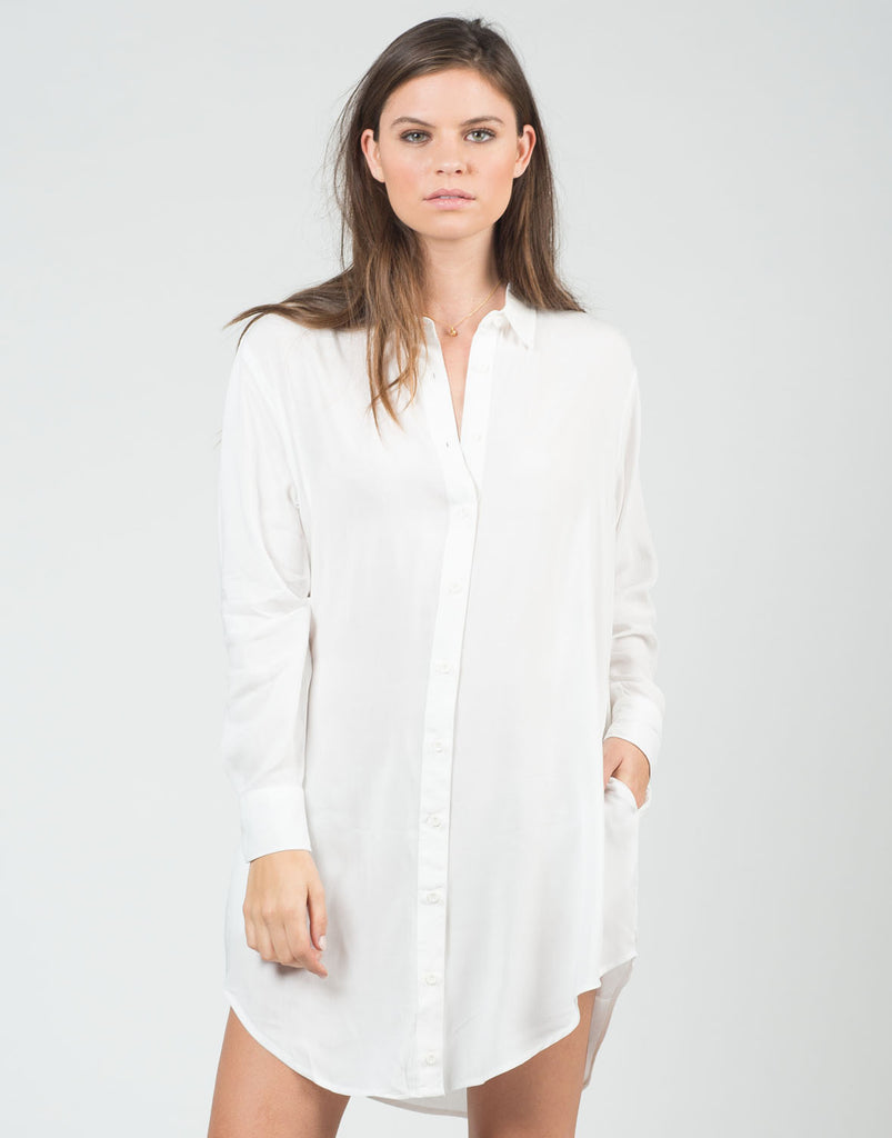 Front View of Woven Dress Shirt