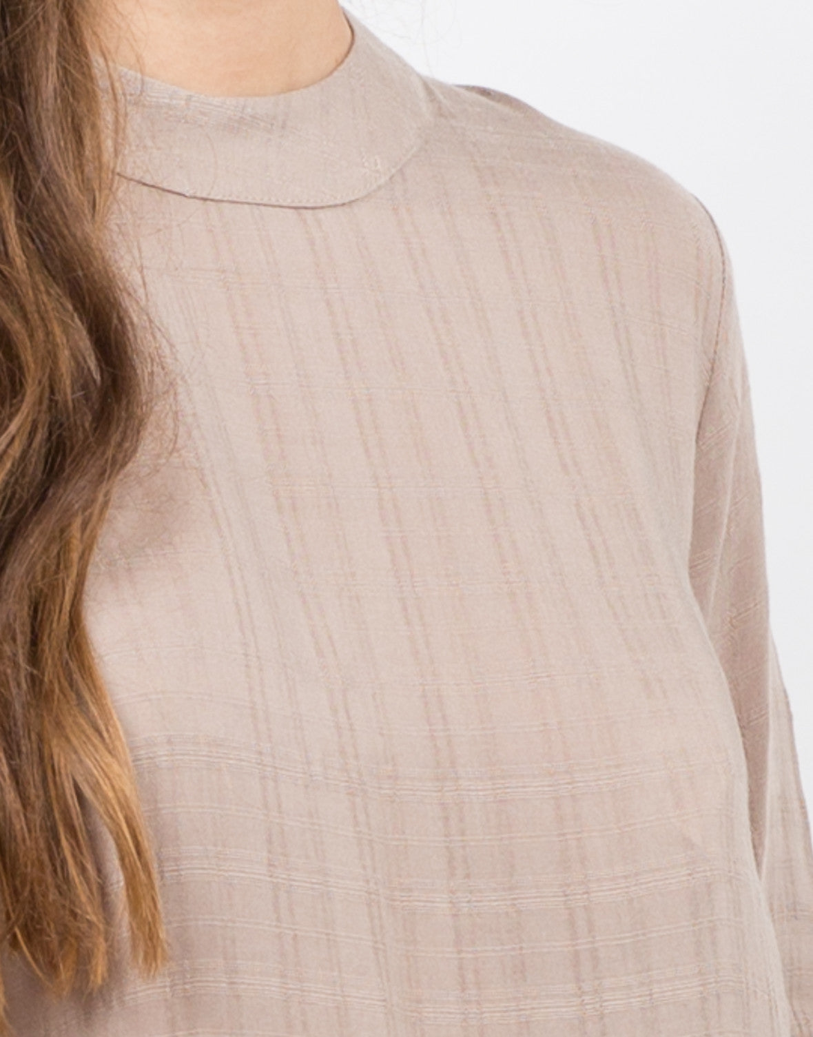 Detail of Woven Flowy Top