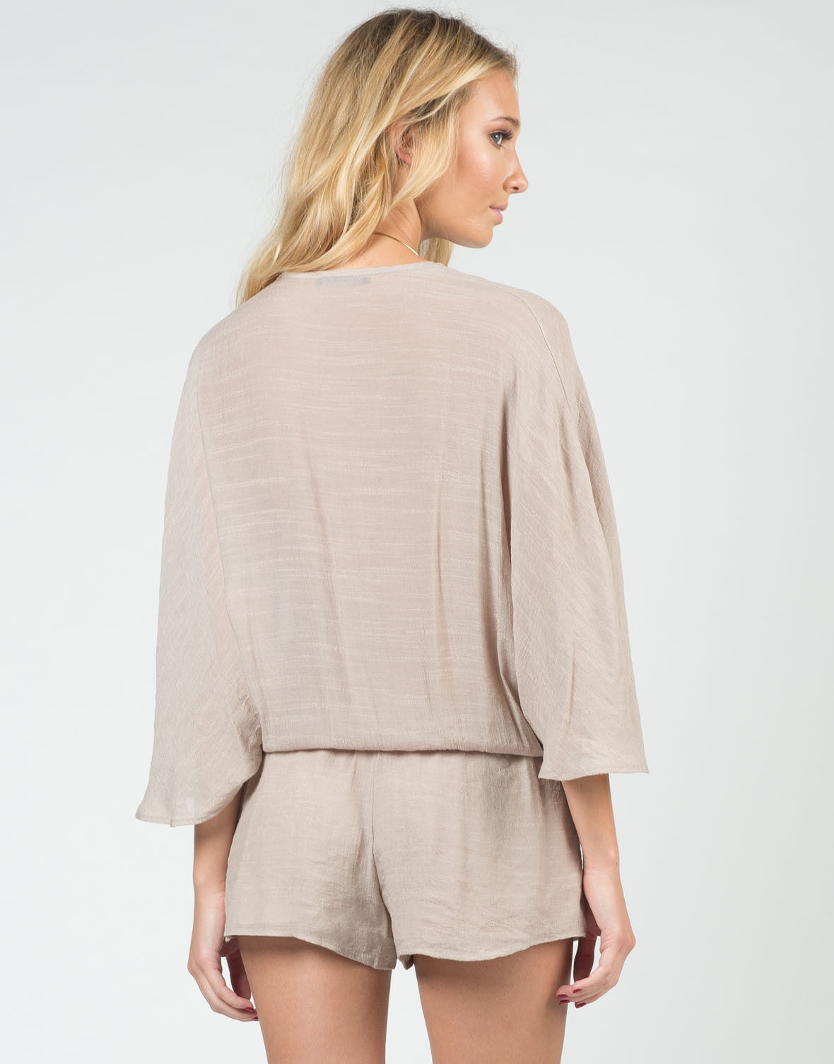Back View of Woven Little Romper