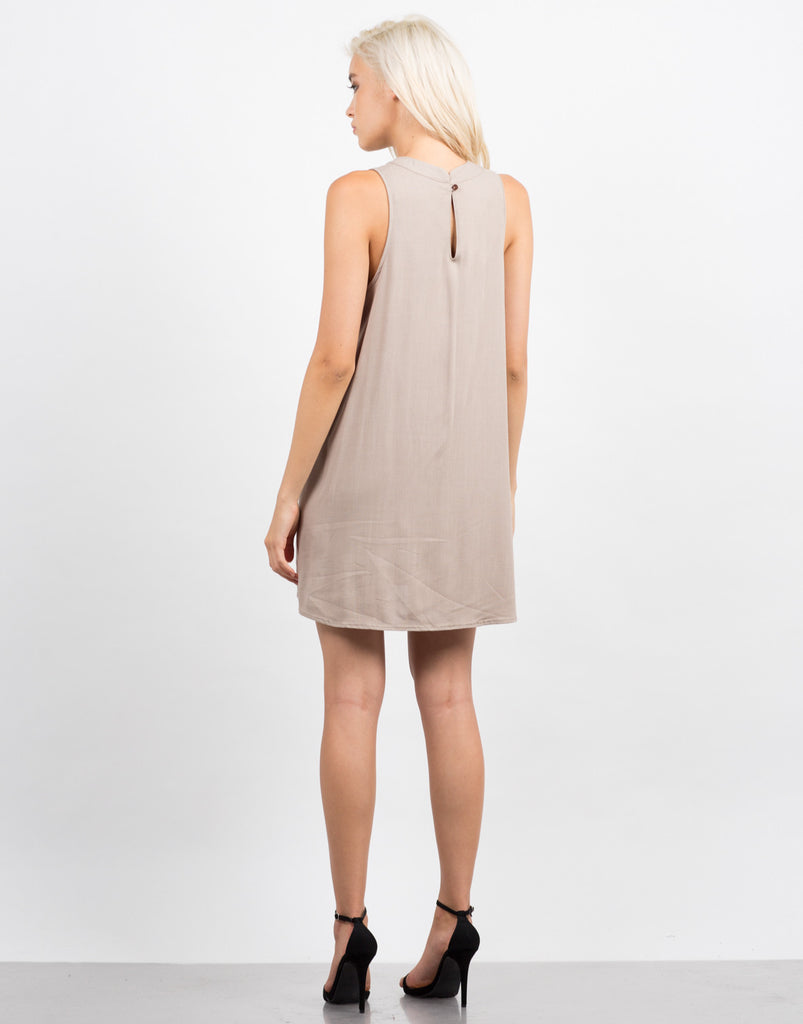 Back View of Woven Tank Dress