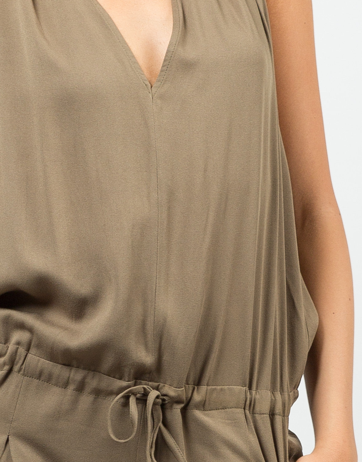 Detail of Woven T-Back Jumpsuit