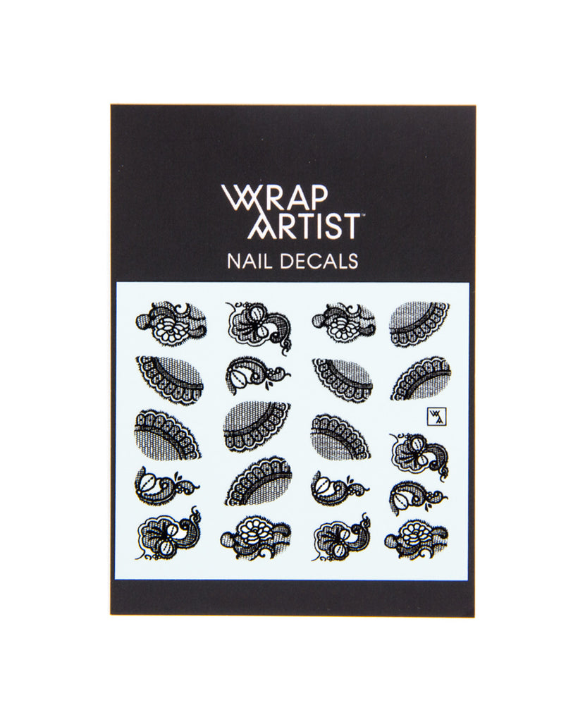 Wrap Artist Nail Decals - Laced Up Accessories Black One Size -2020AVE