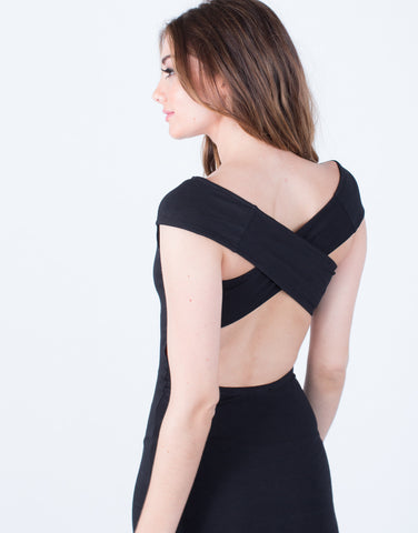 Detail of X-Back Bodycon Dress