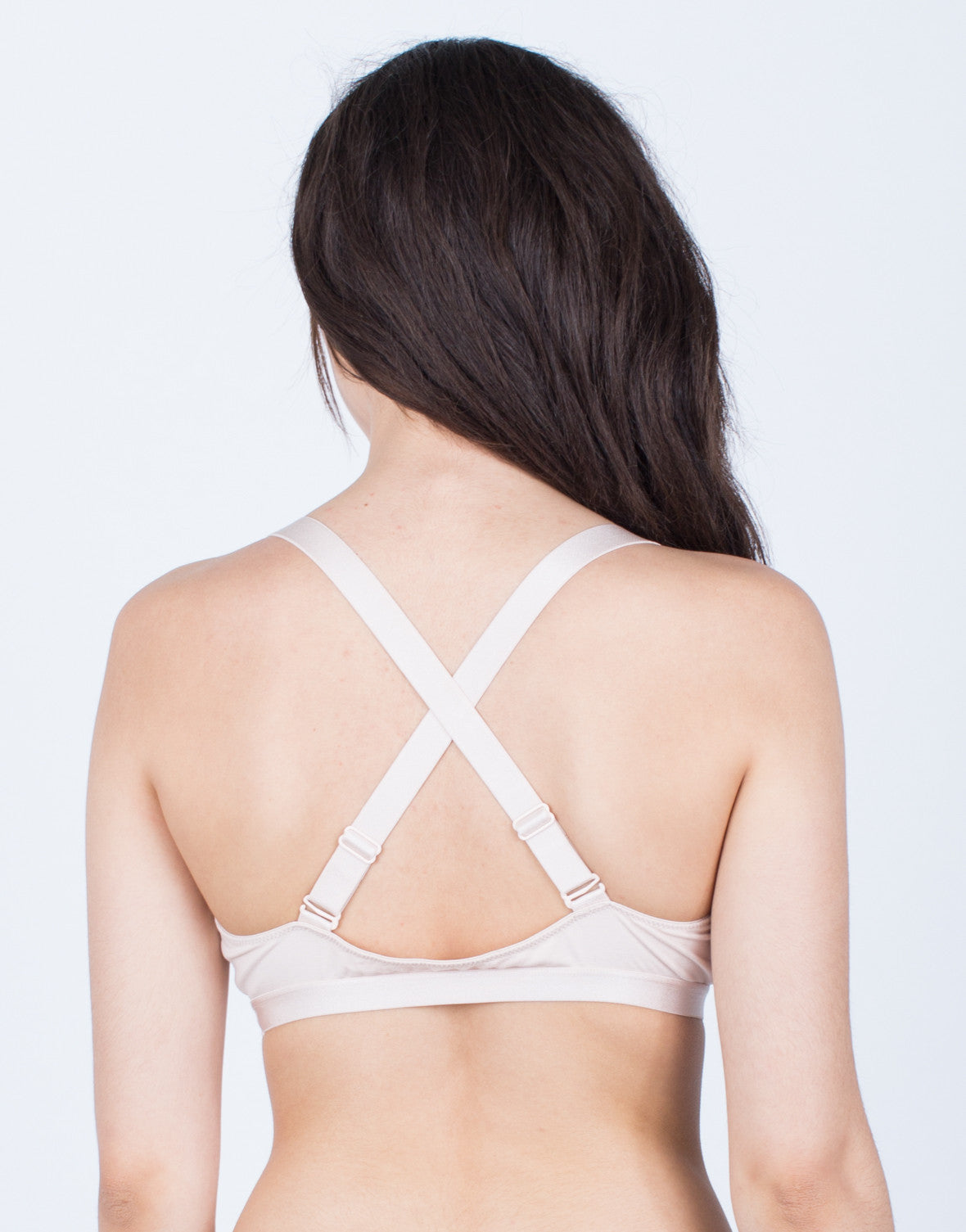 Back View of X-Back Knit Bralette