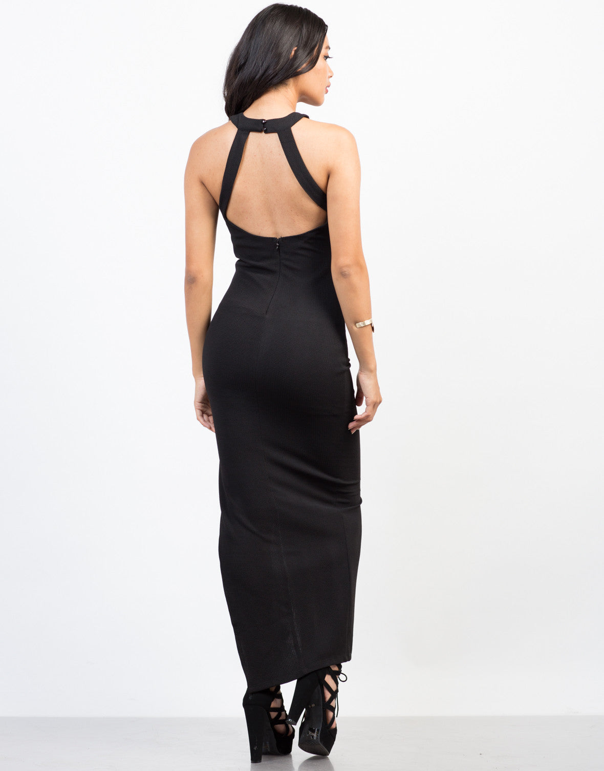 Back View of X-Factor Maxi Dress