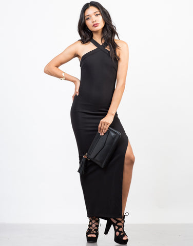 Front View of X-Factor Maxi Dress