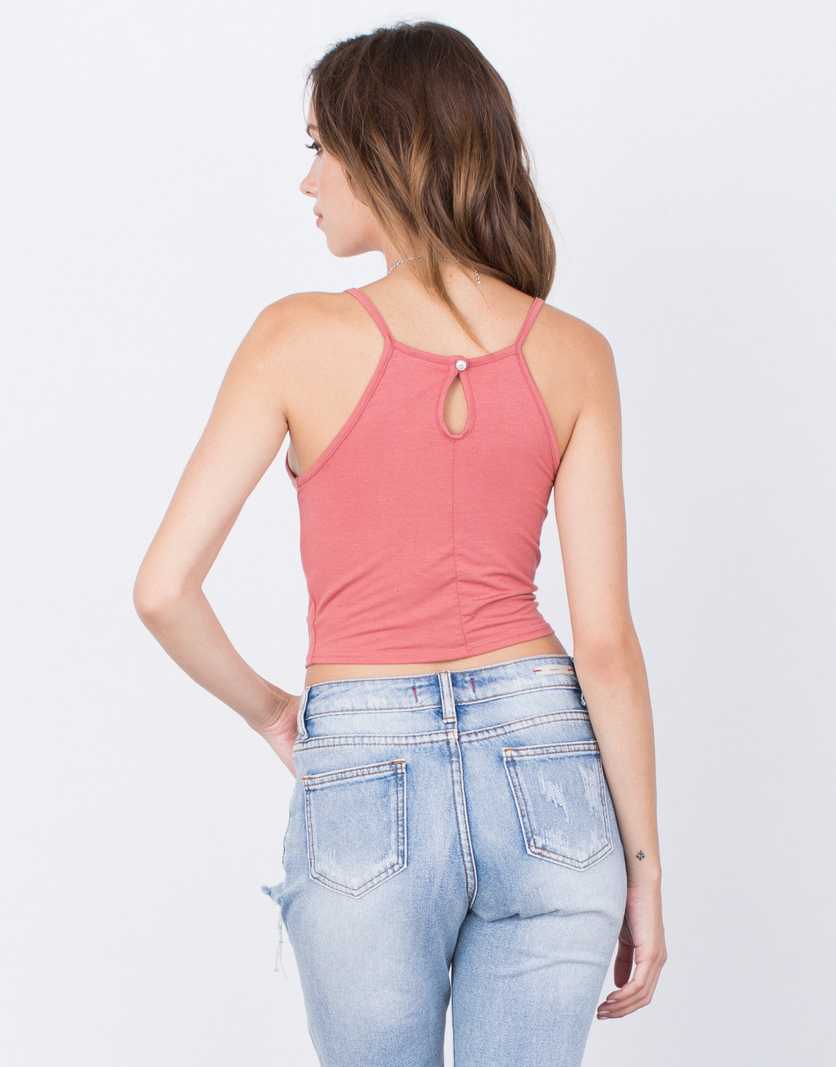 Back View of Your Everyday Cropped Cami