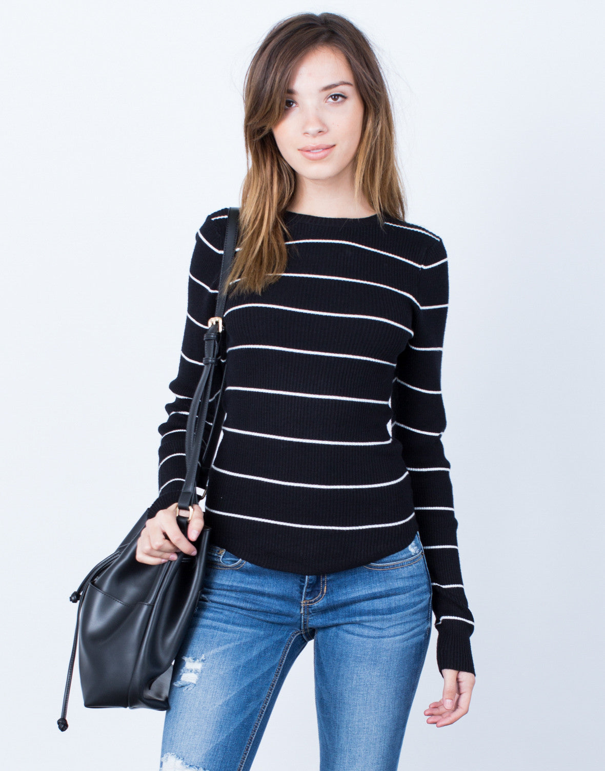 Front View of Your Everyday Sweater Top