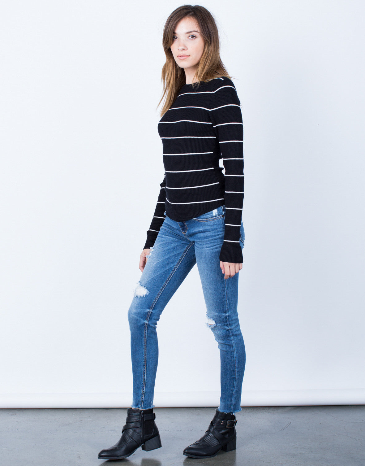 Side View of Your Everyday Sweater Top