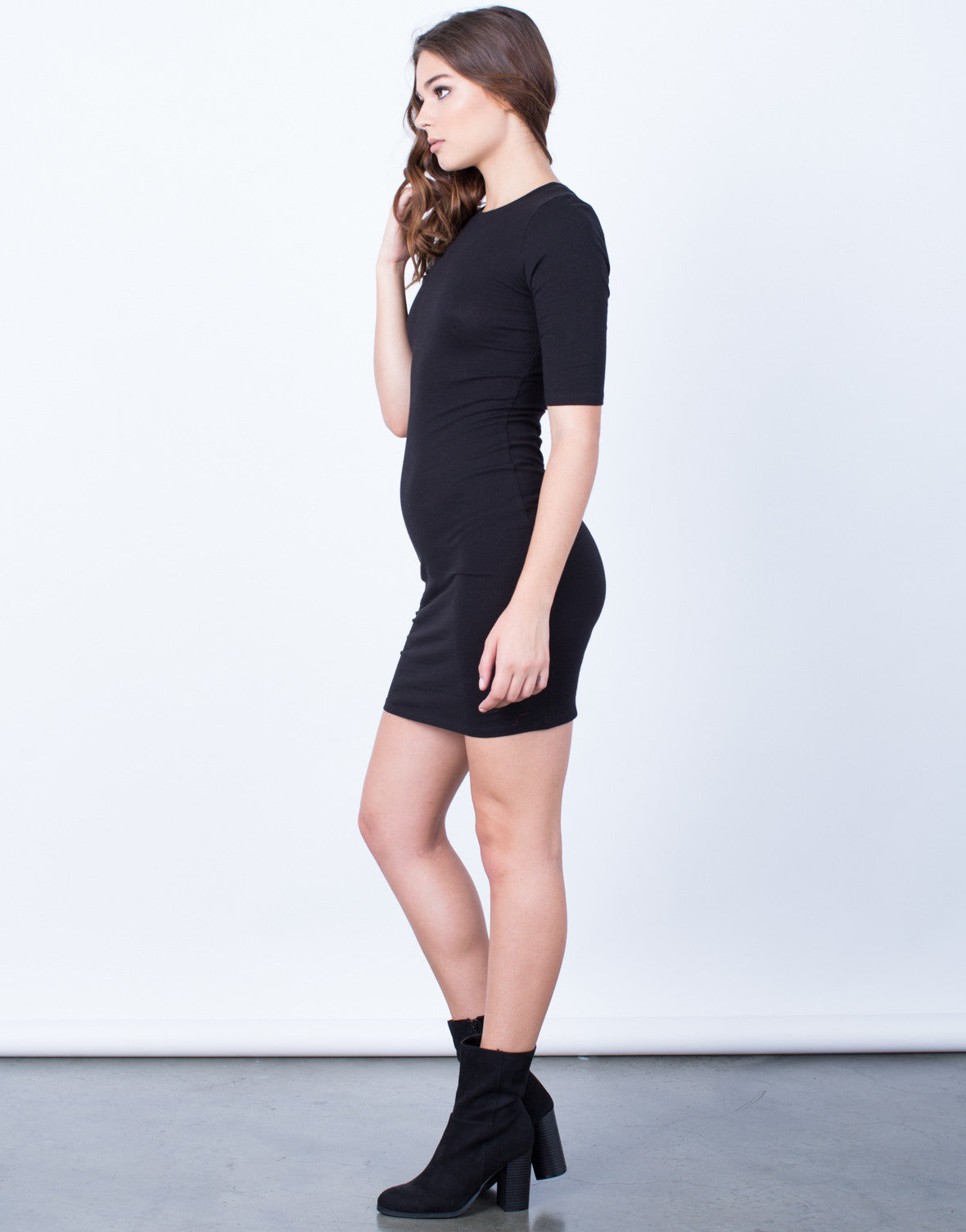 Side View of Your Everyday T-Shirt Dress