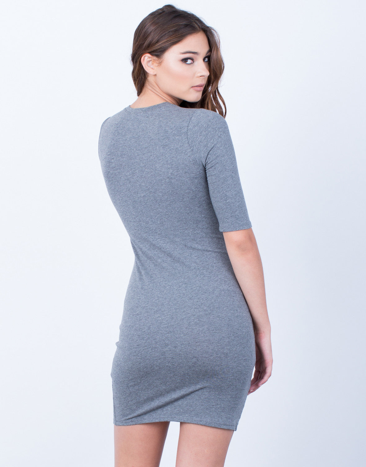 Back View of Your Everyday T-Shirt Dress