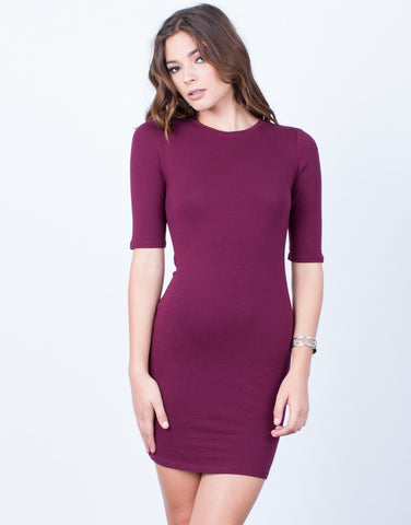 Front View of Your Everyday T-Shirt Dress