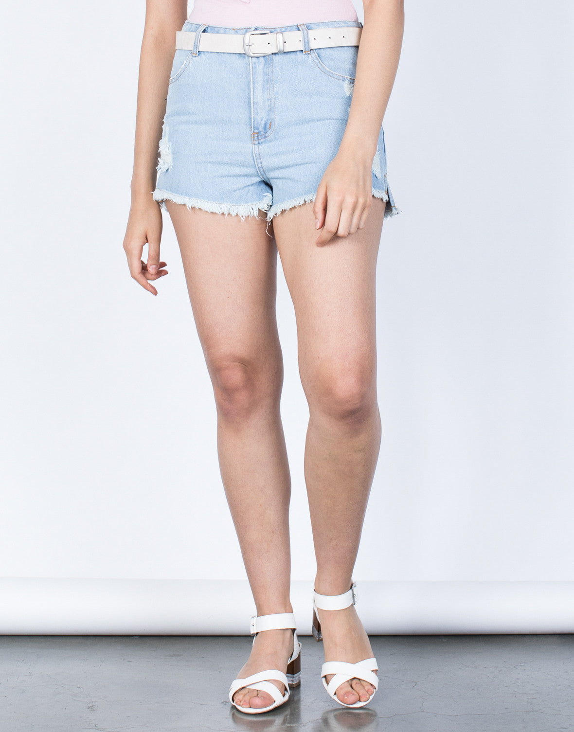 Front View of Your Fave Denim Shorts