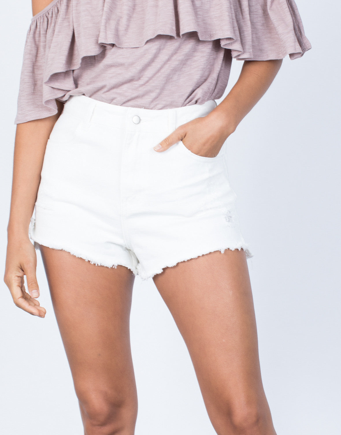 Detail of Your Fave Denim Shorts
