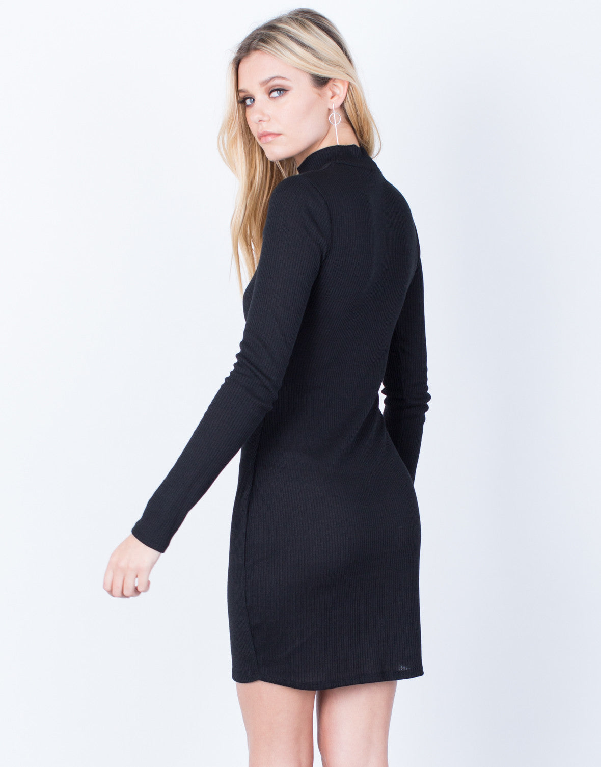 Back View of Your Go-To Black Dress