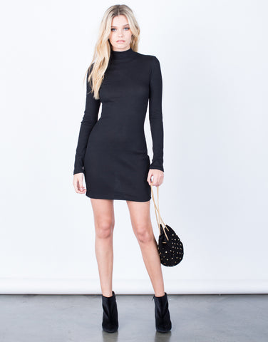 Front View of Your Go-To Black Dress