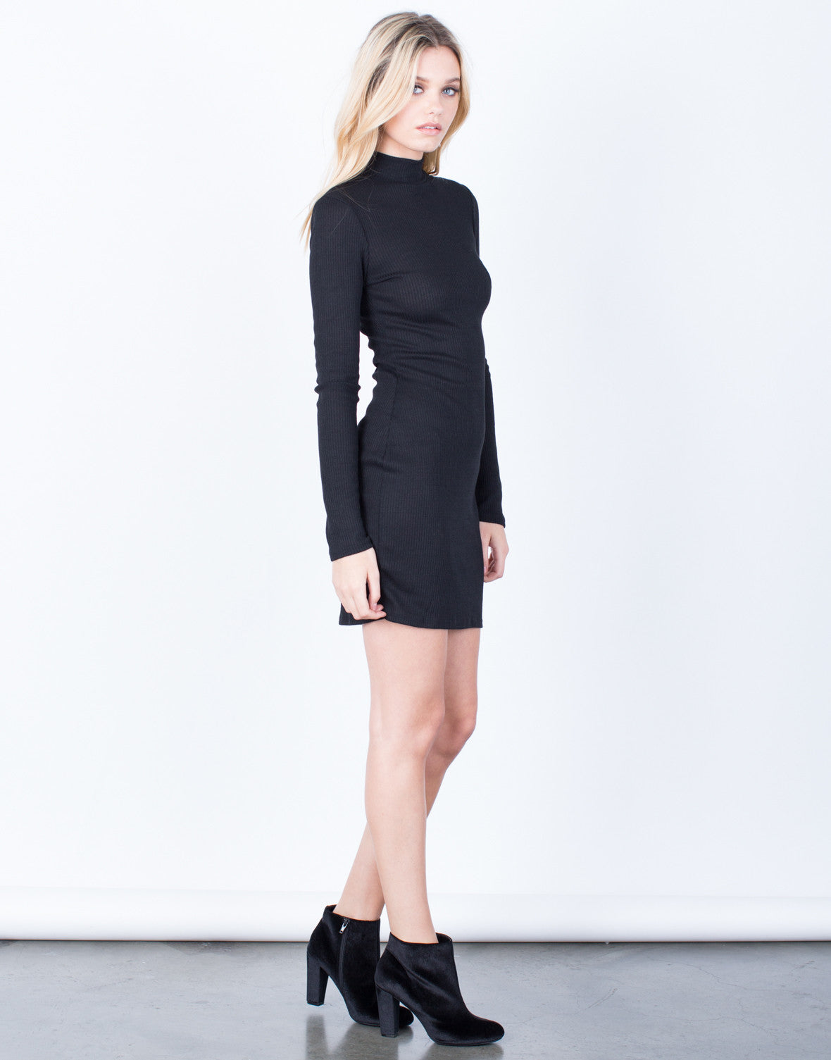 Side View of Your Go-To Black Dress