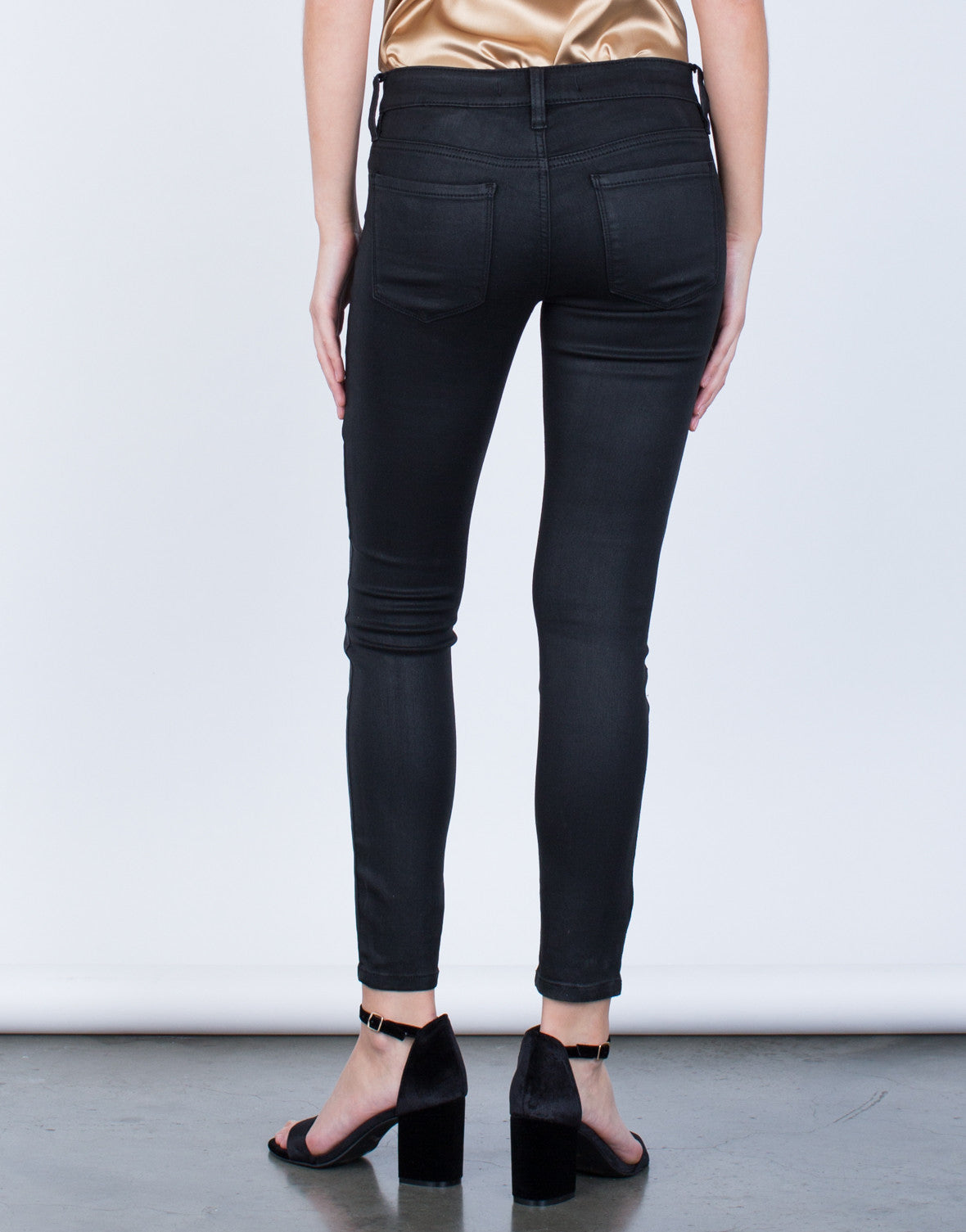 Back View of Your Go-To Skinny Leather Pants