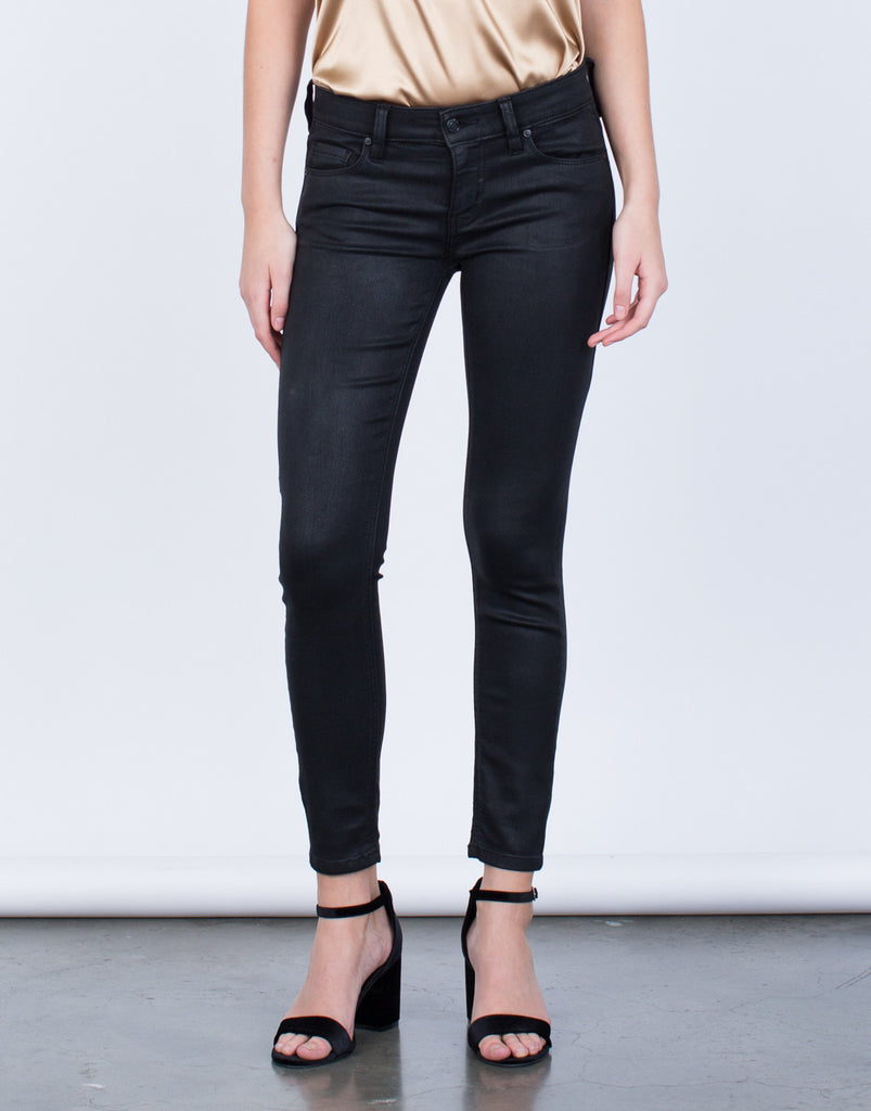 Front View of Your Go-To Skinny Leather Pants