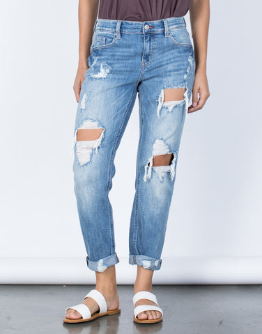 Blue Denim Your Laid-Back Jeans - Front Detail