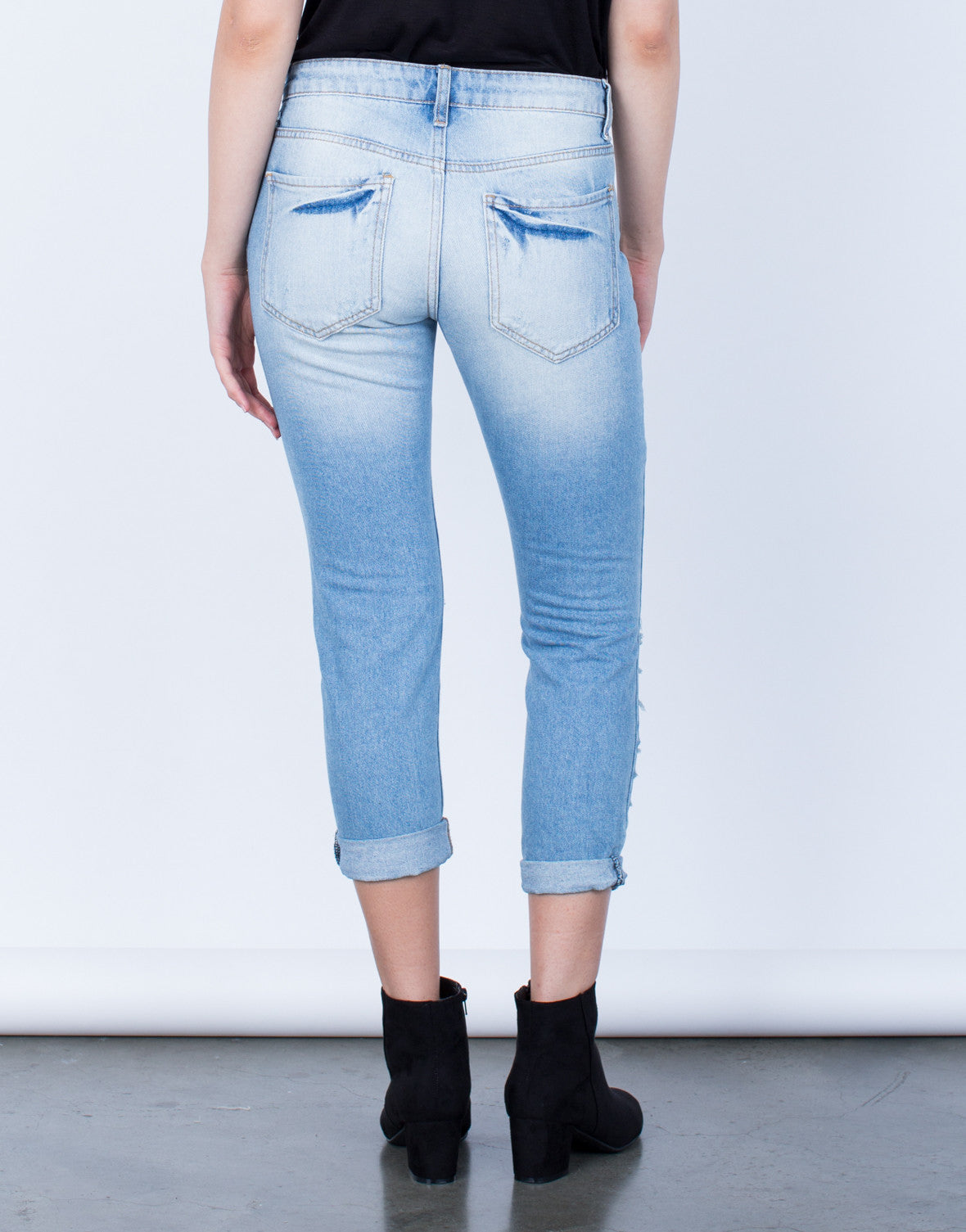Back View of Your Next Boyfriend Jeans