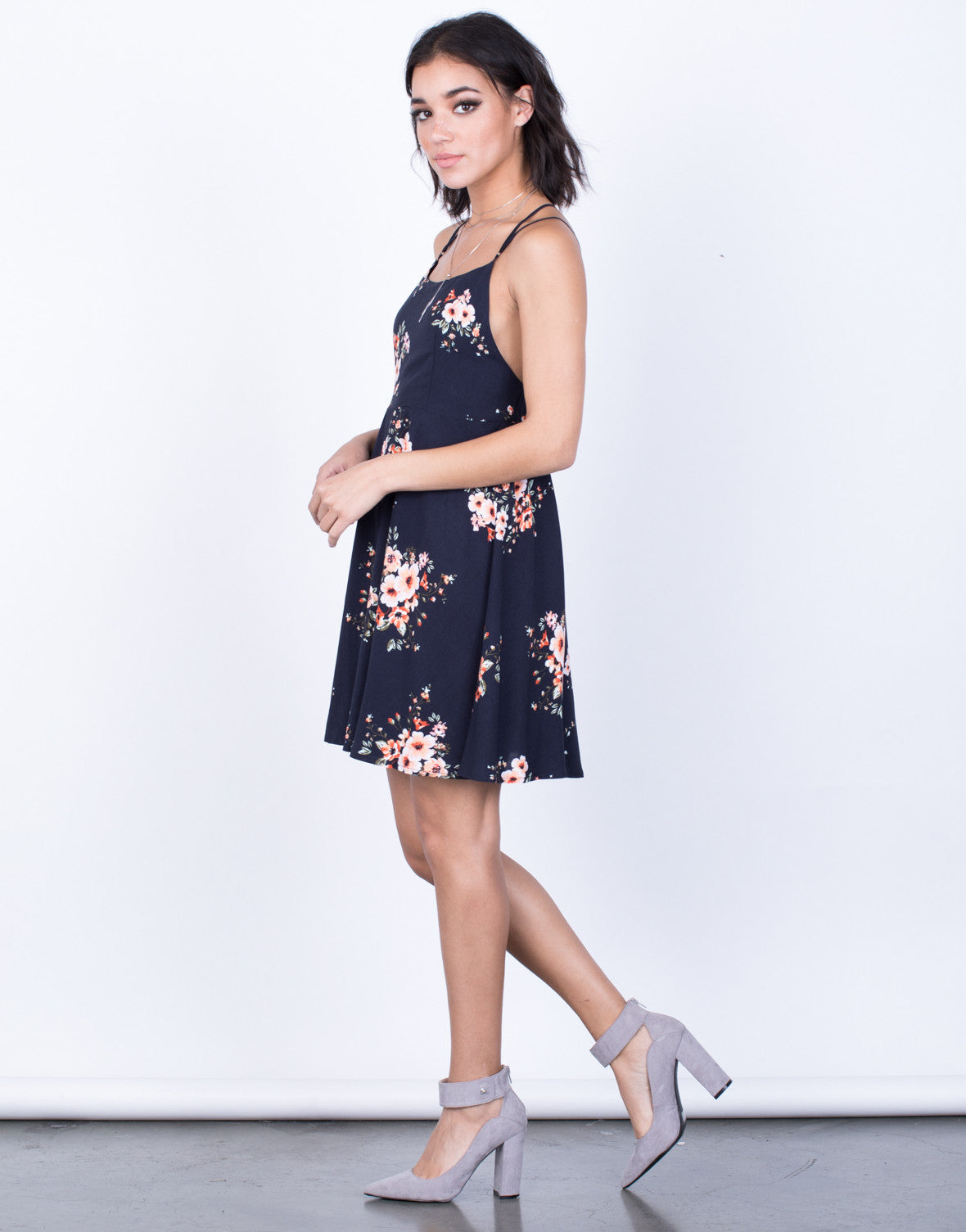 Side View of Your Vacay Floral Dress