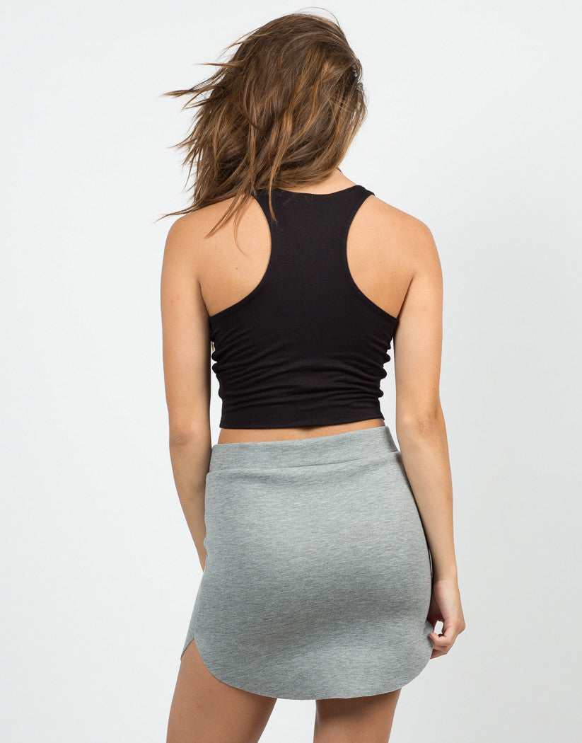 Back View of Your Everyday Cropped Top