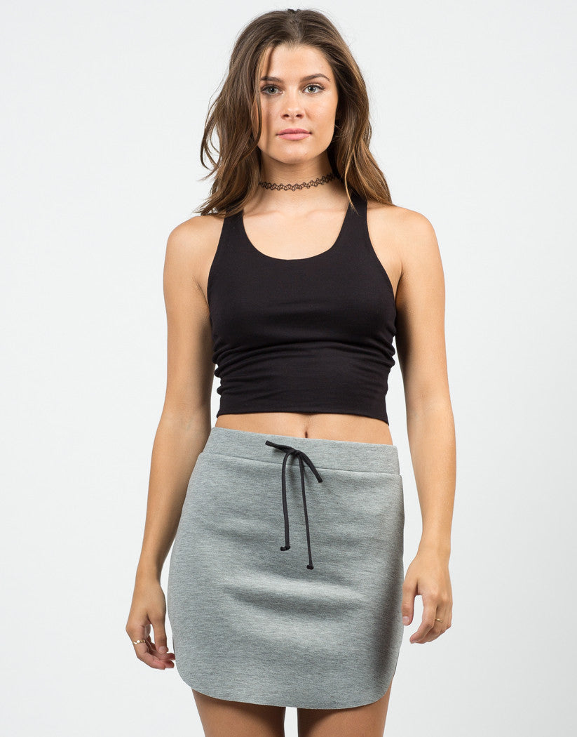 Front View of Your Everyday Cropped Top