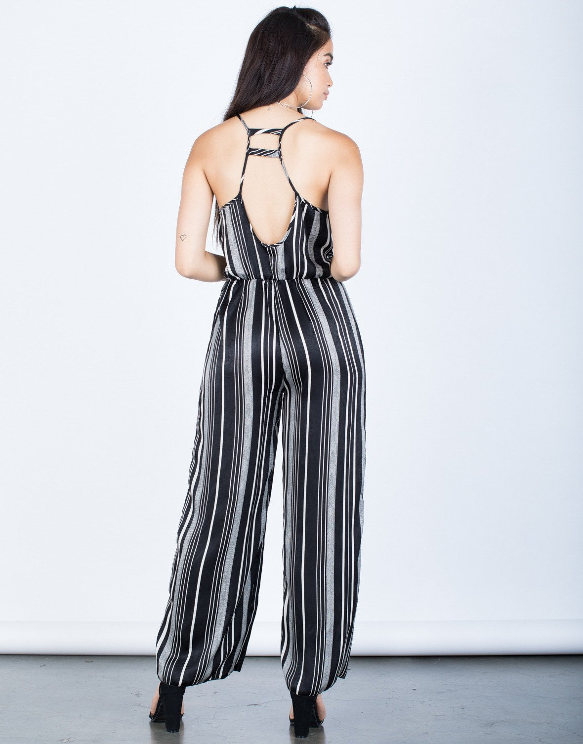 Zebra Striped Jumpsuit