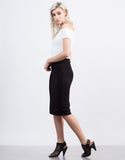 Side View of Zig Zag Pencil Skirt